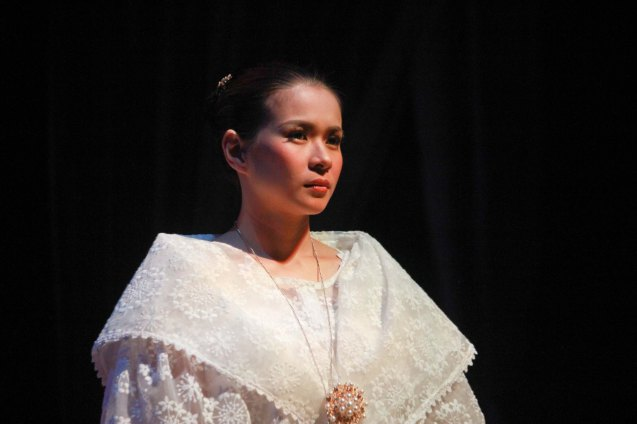 LJ Reyes (Señora Teresa); Catch Tanghalang Pilipino's adaptation of DANGEROUS LIASONS—JUEGO DE PELIGRO at CCP until March 8, 2015; Costumes by James Reyes. Photo by Jude Bautista
