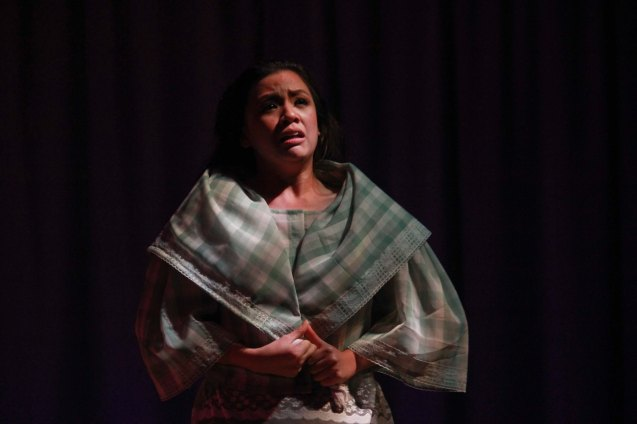 Adrienne Vergara (Cecilia); Catch Tanghalang Pilipino's adaptation of DANGEROUS LIASONS—JUEGO DE PELIGRO at CCP until March 8, 2015; Costumes by James Reyes. Photo by Jude Bautista