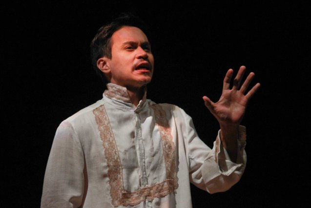 Arnold Reyes (Señor Vicente); Tanghalang Pilipino's adaptation of DANGEROUS LIAISONS—JUEGO DE PELIGRO at CCP was a huge hit watch out for its next run; Costumes by James Reyes. Photo by Jude Bautista