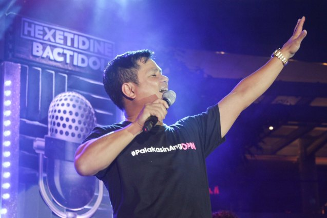 OPM Pres. Ogie Alcasid; PALAKASIN ANG OPM COLLAB Sessions first 12-hour OPM festival was held at the Bonifacio High Street Amphitheatre, Bonifacio Global City Taguig last March 14, 2015. Photo by Jude Bautista