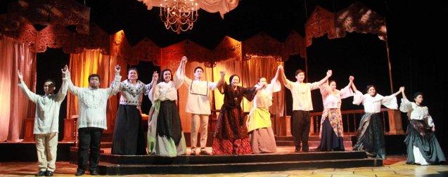 from left: Aldo Vencilao (Anton), Jonathan Tadioan (Anton), Sherry Lara (Señora Remedios), Adrienne Vergara (Cecilia), Arnold Reyes (Señor Vicente), Shamaine Buencamino (Señora Margarita), LJ Reyes (Señora Teresa), Lharby Policarpio (Daniel), Racquel Pareno (Señora Violeta), Lhorvie Nuevo (Elena) and Sasa Cabalquinto (Adela). Catch Tanghalang Pilipino's adaptation of DANGEROUS LIASONS—JUEGO DE PELIGRO at CCP until March 8, 2015; Costumes by James Reyes. Photo by Jude Bautista