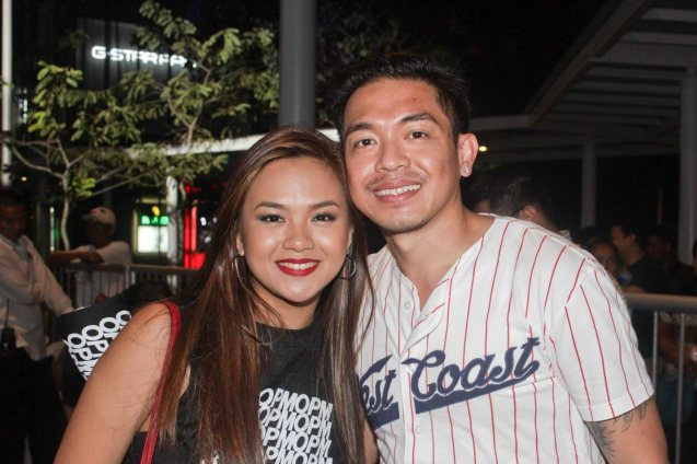 Lara Maigue with Concert and Film/TV director GB Sampedro. PALAKASIN ANG OPM COLLAB Sessions first 12-hour OPM festival was held at the Bonifacio High Street Amphitheatre, Bonifacio Global City Taguig last March 14, 2015. Photo by Jude Bautista