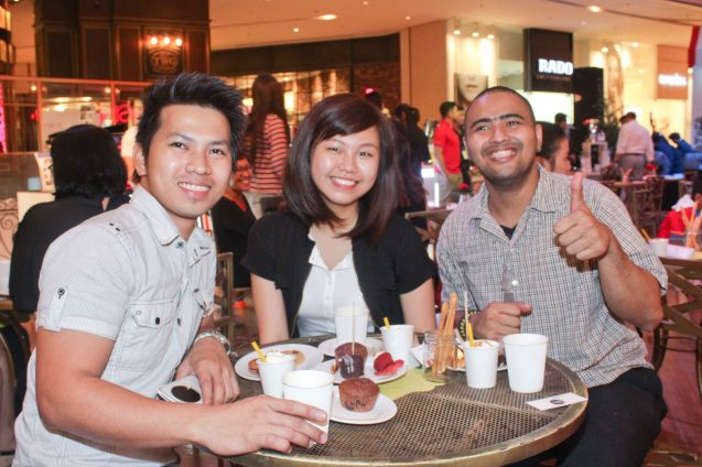Barkada fun in COFFEE TEA AND ALL THAT JAZZ AT THE SHANG, East Atrium of the Shangri-La Plaza Mall from March 20-29, 2015. Photo by Jude Bautista