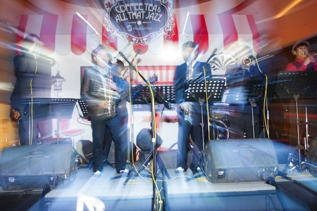 The Brass Munkeys; Try out designer coffee and listen to great jazz in COFFEE TEA AND ALL THAT JAZZ AT THE SHANG, East Atrium of the Shangri-La Plaza Mall from March 20-29, 2015. Photo by Jude Bautista