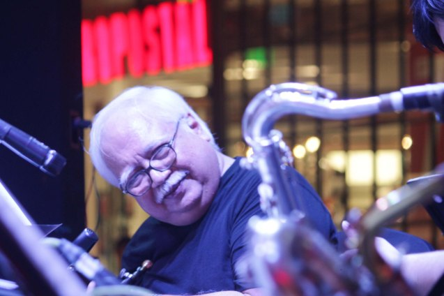 The Executive Band's Butch Silverio (Trumpet); Try out designer coffee and listen to great jazz in COFFEE TEA AND ALL THAT JAZZ AT THE SHANG, East Atrium of the Shangri-La Plaza Mall from March 20-29, 2015. Photo by Jude Bautista