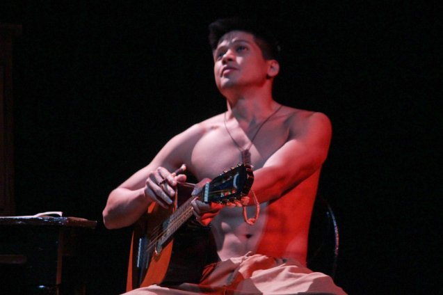 Vin Abrenica (Daniel); Tanghalang Pilipino's adaptation of DANGEROUS LIAISONS—JUEGO DE PELIGRO at CCP was a huge hit watch out for its next run; Costumes by James Reyes. Photo by Jude Bautista