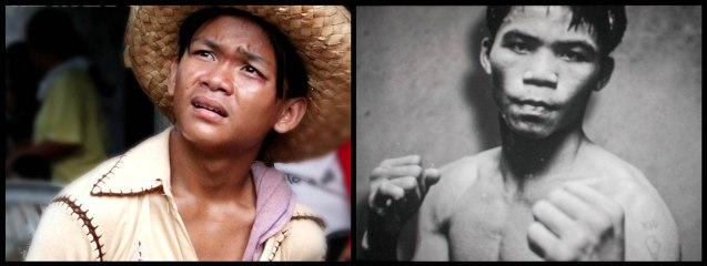Buboy Villar (left) really looks like teenaged Manny Pacquiao (right). After KID KULAFU's successful run in the Philippines it will also be released in the U.S. and Canada. Click on this link for cities and release dates: http://abscbnpr.com/untold-story-of-manny-pacquiao-revealed-in-kid-kulafu/