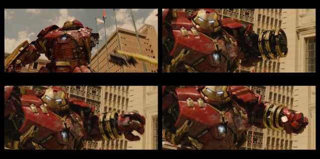 top left: arm detaches, components latch on and Hulkbuster gets ready for battle. Catch Avengers Age of Ultron at Newport Cinemas in Resort's World, EASTWOOD City Mall, Lucky China Town Mall and Shang Rila Plaza mall.