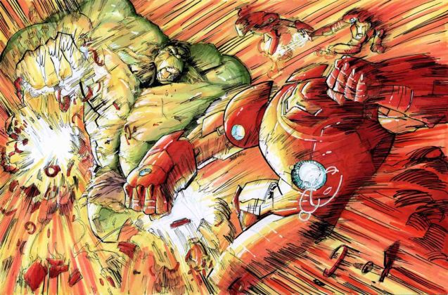 from http://kourmpamp.deviantart.com/art/HUlK-vs-Iron-man-s-Hulkbuster-and-drones-321854609 Catch Avengers Age of Ultron at Newport Cinemas in Resort's World, EASTWOOD City Mall, Lucky China Town Mall and Shang Rila Plaza mall.
