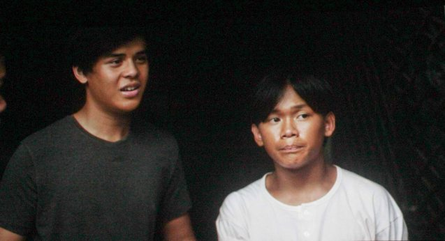 from left: Eugene (Khalil Ramos) & Manuel (Buboy Villar); After KID KULAFU's successful run in the Philippines it will also be released in the U.S. and Canada. Click on this link for cities and release dates: http://abscbnpr.com/untold-story-of-manny-pacquiao-revealed-in-kid-kulafu/