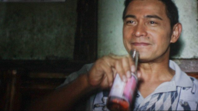 Tio Sardo (Cesar Montano) takes a swig of KULAFU. After KID KULAFU's successful run in the Philippines it will also be released in the U.S. and Canada. Click on this link for cities and release dates: http://abscbnpr.com/untold-story-of-manny-pacquiao-revealed-in-kid-kulafu/