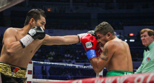 Nonito Donaire Jr used his jab more in this fight. PINOY PRIDE 30 D-Day was held at the SMART Araneta Coliseum last March 28, 2015. Photo by Jude Bautista