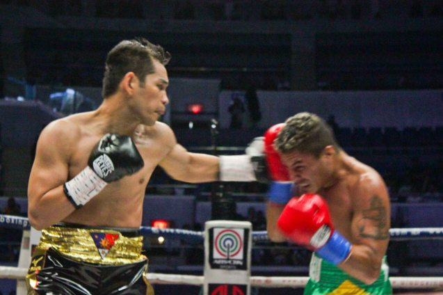 Donaire's killer left hook; PINOY PRIDE 30 D-Day was held at the SMART Araneta Coliseum last March 28, 2015. Photo by Jude Bautista
