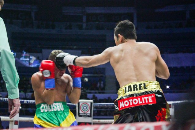 Nonito Donaire Jr used his jab more in this fight maximizing reach and height advantage. PINOY PRIDE 30 D-Day was held at the SMART Araneta Coliseum last March 28, 2015. Photo by Jude Bautista