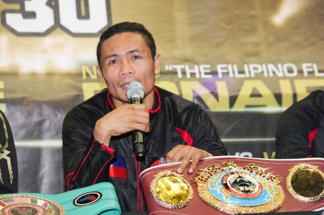 Donnie responds to questions during post fight press con. PINOY PRIDE 30 D-Day was held at the SMART Araneta Coliseum last March 28, 2015. Photo by Jude Bautista