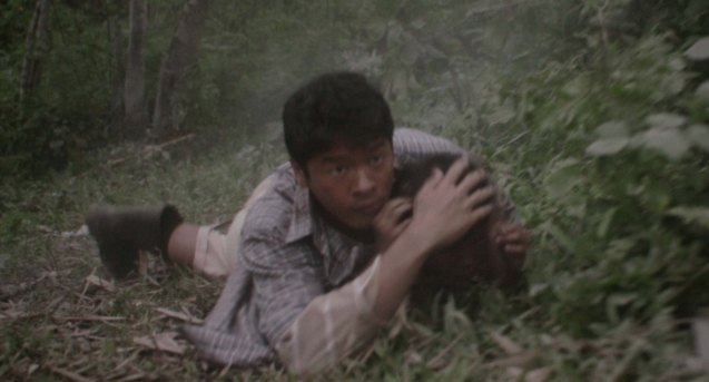 Rosalio (Alex Medina) saves young Manuel (Buboy Villar). After KID KULAFU's successful run in the Philippines it will also be released in the U.S. and Canada. Click on this link for cities and release dates: http://abscbnpr.com/untold-story-of-manny-pacquiao-revealed-in-kid-kulafu/