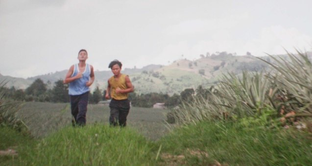 from left: Abner (Jomari Angeles) and Manuel (Buboy Villar) jog in the hills of Gen San. After KID KULAFU's successful run in the Philippines it will also be released in the U.S. and Canada. Click on this link for cities and release dates: http://abscbnpr.com/untold-story-of-manny-pacquiao-revealed-in-kid-kulafu/