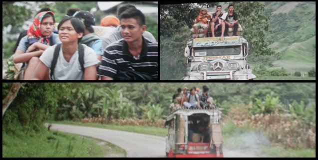 Manny (Buboy Villar), Abner (Jomari Angeles) rode on top jeep to get from Gen San to Digos. After KID KULAFU's successful run in the Philippines it will also be released in the U.S. and Canada. Click on this link for cities and release dates: http://abscbnpr.com/untold-story-of-manny-pacquiao-revealed-in-kid-kulafu/