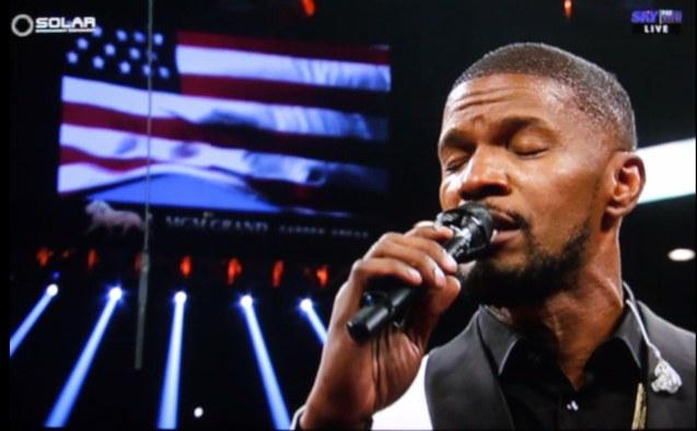 Jamie Foxx sang Star Spangled Banner