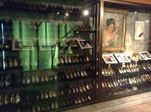 Cong. Imelda Marcos' shoe collection on display at the Marikina Shoe Mueseum. ASIA ON SCREEN 2015 film fest will run at the Shang Cineplex, Shangri-La Plaza Mall from May 8-12, 2015. Photo from Official MARIQUINA fb page https://www.facebook.com/mariquinathemovie/timeline