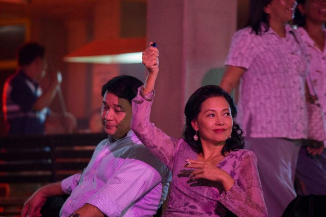 Ricky Davao (Romeo) & Bing Pimentel (Tess). ASIA ON SCREEN 2015 film fest will run at the Shang Cineplex, Shangri-La Plaza Mall from May 8-12, 2015. Photo from Official MARIQUINA fb page https://www.facebook.com/mariquinathemovie/timeline