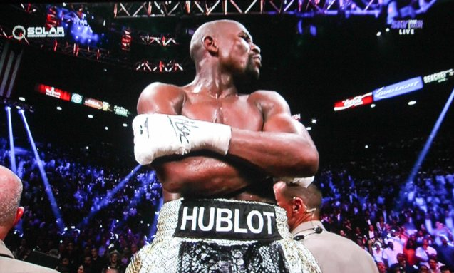 """Floyd Mayweather Jr. was screaming """"I knew I won! I knew I won!"""" during the unanimous decision announcement."""