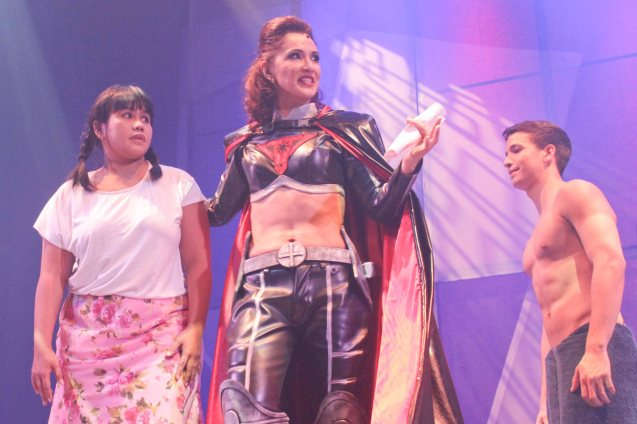 from left: Bituin Escalante (Mely), Menchu Lauchengco Yulo (Madre De Dios) & Markki Stroem (Leading Man). Dalanghita productions' KUNG PAANO AKO NAGING LEADING LADY will run in PETA from May 9 to June 7, 2015. Photo By Jude Bautista
