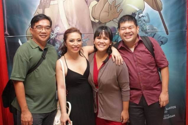 MINT Professor Dennis Marasigan, Caisa Borromeo (Windang Woman), Bituin Escalante (Mely) & Writer Ren Aguila. Dalanghita productions' KUNG PAANO AKO NAGING LEADING LADY will run in PETA from May 9 to June 7, 2015. Photo By Jude Bautista