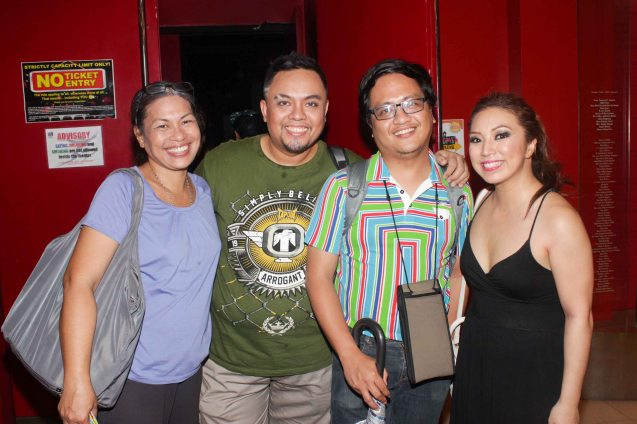 from left: May Bayot, Red Nuestro (Marakas Marko), Jed Balsamo & Caisa Borromeo (Windang Woman). Dalanghita productions' KUNG PAANO AKO NAGING LEADING LADY will run in PETA from May 9 to June 7, 2015. Photo By Jude Bautista