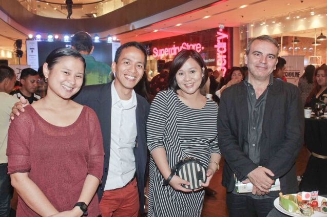 from left: Expat Phil writer Javelyn Ramos, Japan Foundation Prog. Coordinator Roland Samson, Shang Rila Plaza Mktg Nicole Villamor and Instituto Cervantes Deputy for Cultural Affairs Jose Fons. ASIA ON SCREEN 2015 film fest will run at the Shang Cineplex, Shangri-La Plaza Mall from May 8-12, 2015. Photo by Jude Bautista