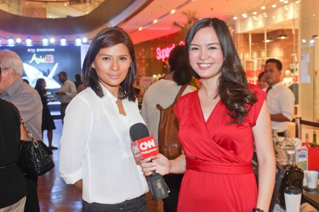 from left: Mylene Dizon & CNN Phil Reporter Patricia Fernandez. ASIA ON SCREEN 2015 film fest will run at the Shang Cineplex, Shangri-La Plaza Mall from May 8-12, 2015. Photo by Jude Bautista