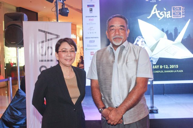 from right: Indian Amb. Lalduhthlana Ralte and Shang Rila Plaza GM & EVP Lala Fojas. ASIA ON SCREEN 2015 film fest will run at the Shang Cineplex, Shangri-La Plaza Mall from May 8-12, 2015. Photo by Jude Bautista