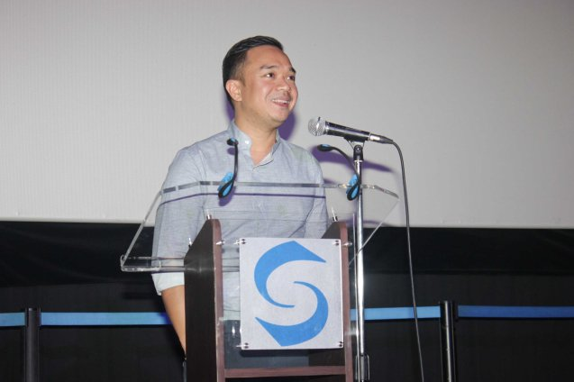 MARIQUINA director Milo Sogueco; ASIA ON SCREEN 2015 film fest will run at the Shang Cineplex, Shangri-La Plaza Mall from May 8-12, 2015. Photo by Jude Bautista