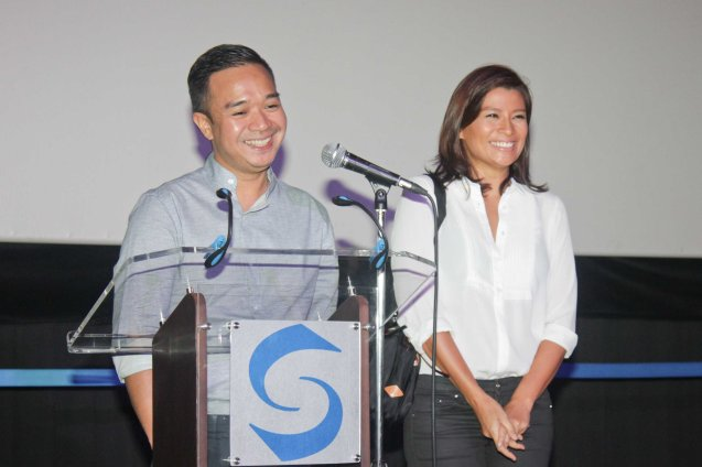 from left: Milo Sogueco & Mylene Dizon. ASIA ON SCREEN 2015 film fest will run at the Shang Cineplex, Shangri-La Plaza Mall from May 8-12, 2015. Photo by Jude Bautista