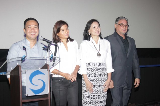 MARIQUINA cast from left: Director Milo Sogueco, Mylene Dizon (Imelda), Bing Pimentel (Tess) & Ricky Davao (Romeo). ASIA ON SCREEN 2015 film fest will run at the Shang Cineplex, Shangri-La Plaza Mall from May 8-12, 2015. Photo by Jude Bautista