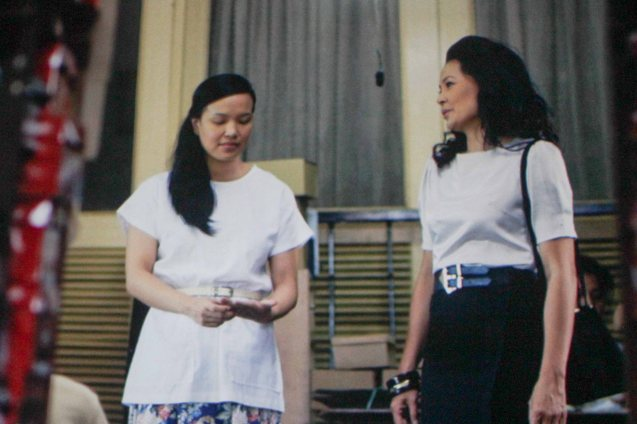 from left: Che Ramos-Cosio (Leonor) & Bing Pimentel (Tess). ASIA ON SCREEN 2015 film fest will run at the Shang Cineplex, Shangri-La Plaza Mall from May 8-12, 2015.