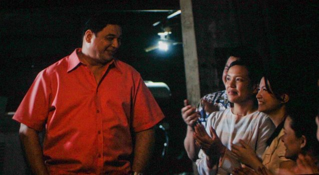 from left: Ricky Davao (Romeo), Dennis Padilla (Domeng), Che Ramos-Cosio (Leonor) & Barbie Forteza (Imelda). ASIA ON SCREEN 2015 film fest will run at the Shang Cineplex, Shangri-La Plaza Mall from May 8-12, 2015.