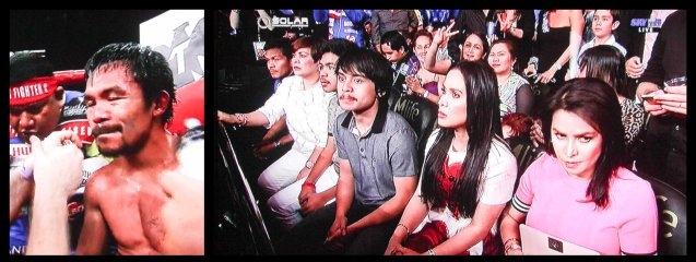 from left: Pac man did not have a single cut or swelling, (right) his family looks on.