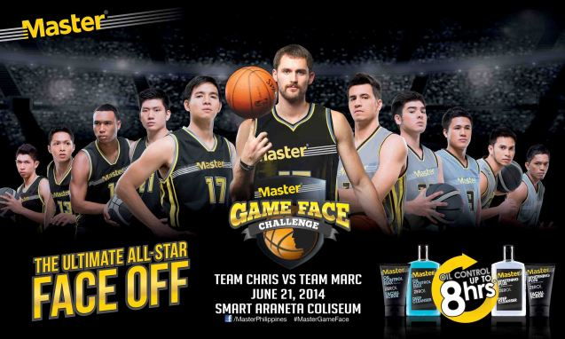 Cavs power forward Kevin Love was in Manila 2014 for the Master's Game Face Challenge with PBA stars Chris Tiu and Marc Pingris.