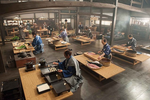 Samurai class of chefs. Watch this and many more Japanese films for free at the Eigai Sai Film festival running in Shang Cineplex, Shangri-La Plaza from July 9-19, 2015.