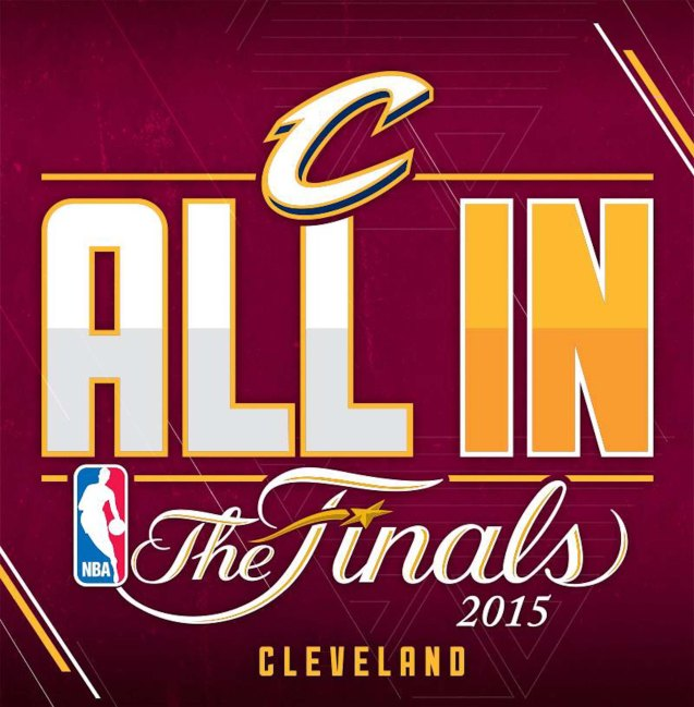 ALL IN: the Cavs tagline for the 2015 finals.