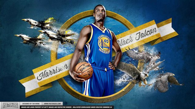 The Warriors' Harrison Barnes is called the Black Falcon.