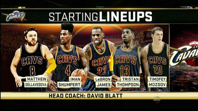 far left: Matthew Dellavedova has taken over the injured Kyrie Irving's staring line up spot and has done well so far.
