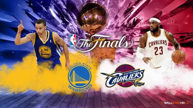 left: Current 2015 MVP Stephen Curry faces 4-time MVP winner LeBron James in the Finals.