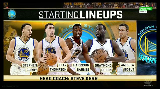 Apart from the starting line up, they have Andre Iguodala, Leandro Barbosa, Shaun Livingston, Festus Ezeli, Mareese Speights coming off the bench.
