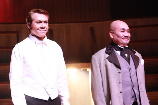 "from left: Michael Williams (Dr. Jekyll/Mr.Hyde) and Junix Inocian (Gabriel John Utterson) in Repertory Phil.'s ""Jekyll & Hyde"". Photo by Jude Bautista"