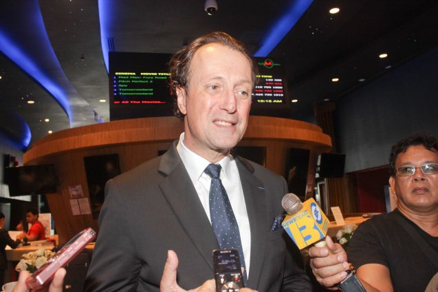 Amb Gilles Garachon; The French Film Festival will be running from June 3 to 9, 2015 at the Greenbelt 3 cinemas in Makati City and at the Bonifacio High Street cinemas in Taguig. Photo by Jude Bautista