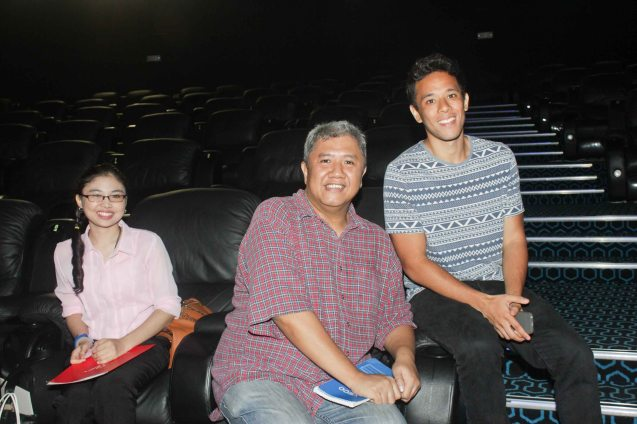 from left: Business World reporter Zsarlene Chua, PDI Writer Bayani San Diego & Filmmaker Pepe Diokno. The French Film Festival will be running from June 3 to 9, 2015 at the Greenbelt 3 cinemas in Makati City and at the Bonifacio High Street cinemas in Taguig. Photo by Jude Bautista