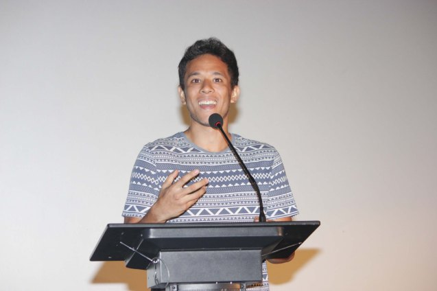 Filmmaker Pepe Diokno is showing ABOVE THE CLOUDS in August locally. The French Film Festival will be running from June 3 to 9, 2015 at the Greenbelt 3 cinemas in Makati City and at the Bonifacio High Street cinemas in Taguig. Photo by Jude Bautista