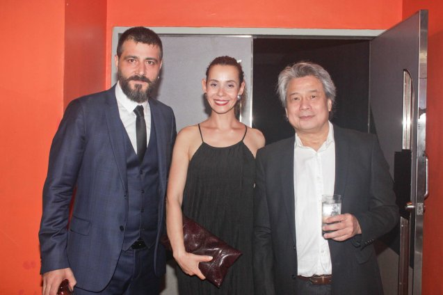 from left: Grand Jury Prizewinner Burak Cem Arliel – CRIMEAN (Turkey), Line Producer Neslihan Arliel and FDCP Chairman Briccio Santos. The World Premieres Film Festival Phil features 70 films from over 35 countries along with the Filipino New Cinema competition. It is currently the most prestigious international film fest in the Philippines. Photo by Jude Bautista